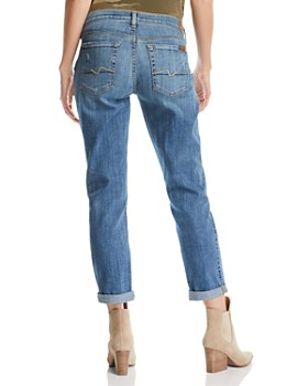 7 For All Mankind - Maternity Josefina Boyfriend Jeans in Blue