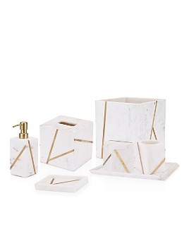 Kassatex - Marble Brass Bath Accessories