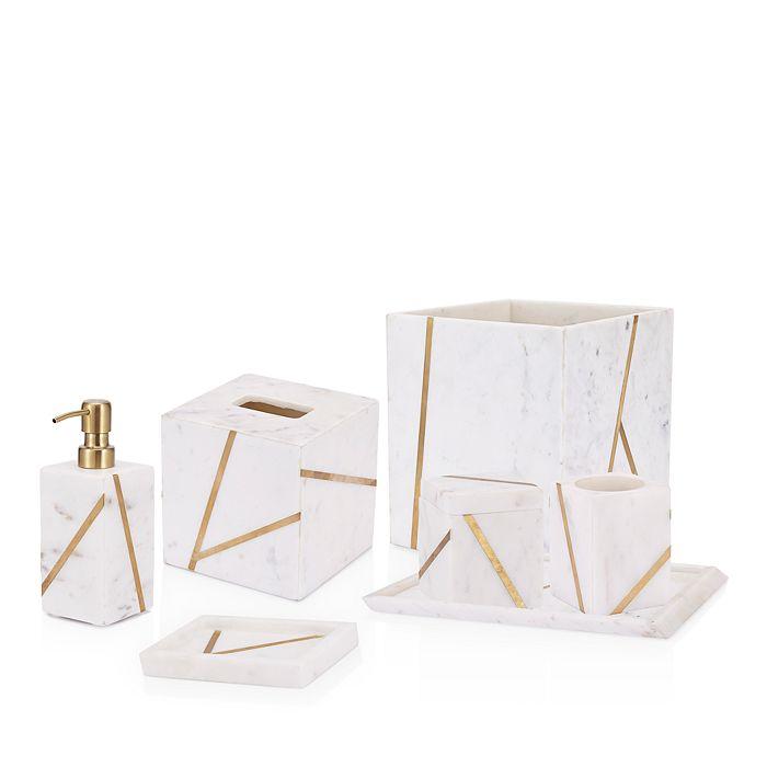 Kassatex - Marble Brass Bath Accessories