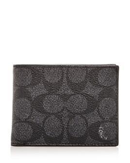 COACH - Signature Coated Canvas Slim Bi-Fold Wallet