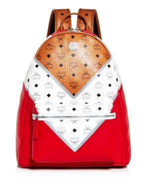 Mcm Stark M Move Visetos Leather Backpack
