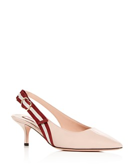 Bally - Women's Alice Slingback Pointed-Toe Pumps