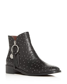 See by Chloé - Women's Studded Low-Heel Booties