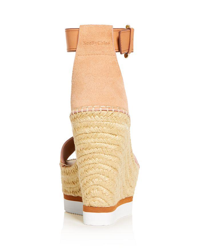 213f00ffe9f Glyn Leather Espadrille Platform Wedge Ankle Strap Sandals