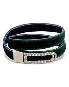 Ralph Lauren - Velvet & Pavé Two-Tone Reversible Wrap Bracelet