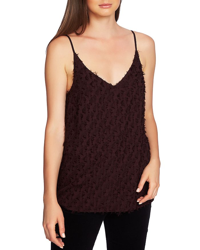 1.STATE - Fringe-Trim Sleeveless Top