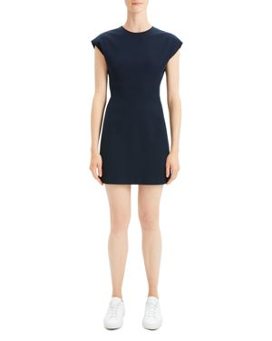 Theory Structured Cap-Sleeve Dress
