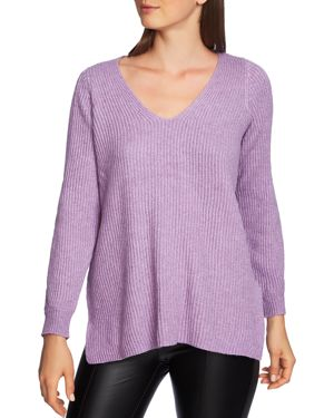 1.state Cutout Sleeve Ribbed Sweater