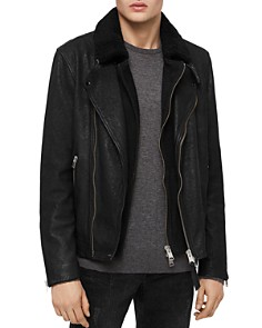 ALLSAINTS - Hanoi Leather Layered-Look Biker Jacket
