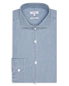 REISS - Draper Chambray Slim Fit Dress Shirt