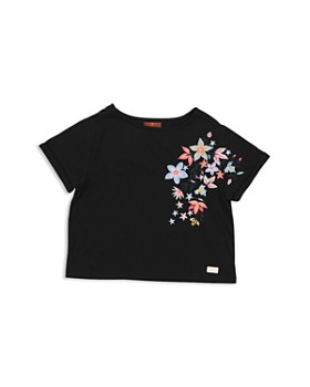 7 For All Mankind - Girls' Floral Embroidered Tee - Big Kid