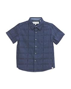 Sovereign Code - Boys' Cotton Grid-Print Shirt - Little Kid, Big Kid