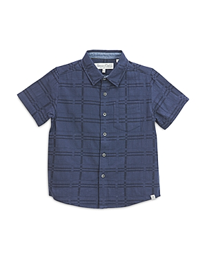 Sovereign Code Boys' Cotton Grid-Print Shirt - Little Kid, Big Kid