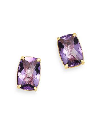 Bloomingdale's - Amethyst Stud Earrings in 14K Yellow Gold - 100% Exclusive