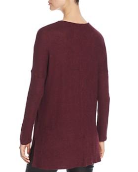 Cupio - Ribbed-Sleeve Tunic Sweater