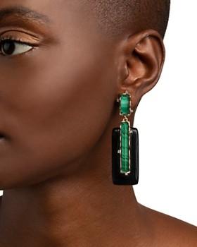 Alexis Bittar - Stone Retro Rectangular Clip-On Earrings
