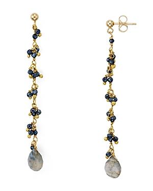 Ela Rae Shaker Linear Drop Earrings in 14K Gold-Plated Sterling Silver