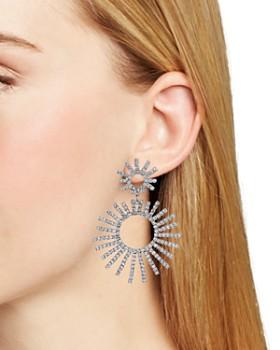 AQUA - Double Sunburst Drop Earrings - 100% Exclusive