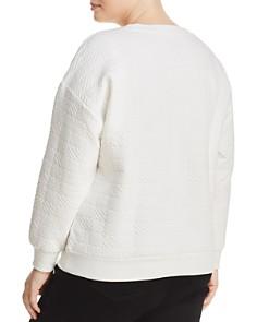 Marc New York Plus - Textured Graphic Sweatshirt