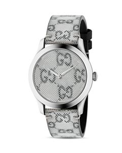 24a9aeaa51e Gucci G-Timeless Stainless Steel Watch with Mother-of-Pearl and ...