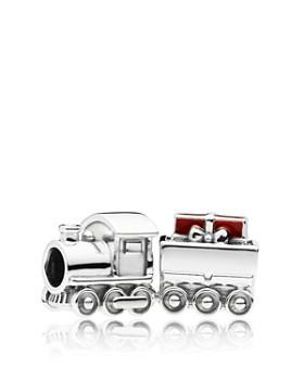 PANDORA - Sterling Silver & Enamel Christmas Train Charm
