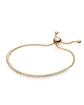 PANDORA - Yellow Gold Tone-Plated Sterling Silver PANDORA Shine Sparkling Strand Bracelet