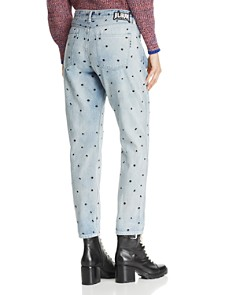 Scotch & Soda - Embroidered-Dot Boyfriend Jeans in Right