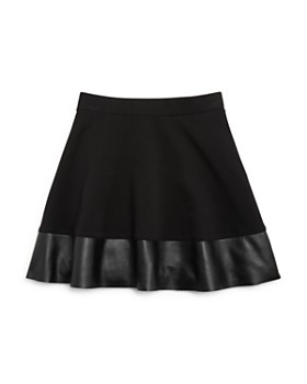 AQUA - Girls' Skirt with Faux-Leather Trim, Big Kid - 100% Exclusive