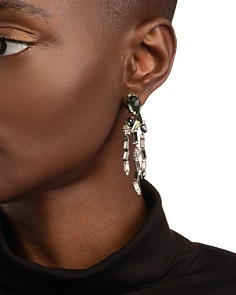 Alexis Bittar - Crystal Baguette Fringe Earrings