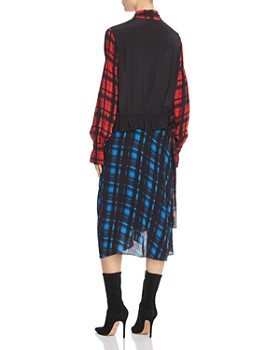 Preen Line - Anz Mixed Grid Print Dress