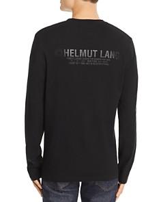 Helmut Lang - Long-Sleeve Tonal Logo-Print Tee