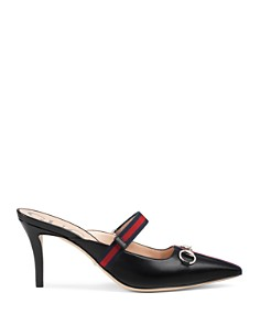 Gucci - Women's Signature Web Strap High-Heel Mules