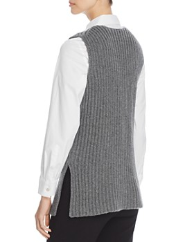 Tory Burch - Merino Wool & Cashmere Sleeveless Sweater