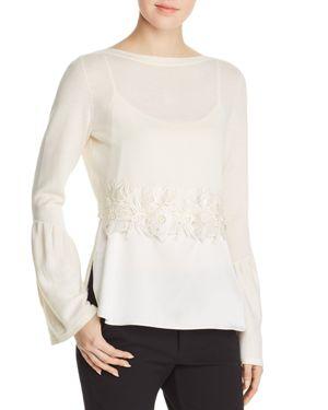 Elie Tahari Ebba Layered Sweater