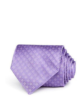 The Men's Store at Bloomingdale's - Floral-Dot Silk Classic Tie