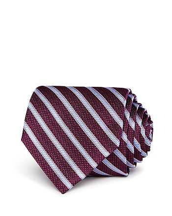 The Men's Store at Bloomingdale's - Textured Stripe Silk Classic Tie - 100% Exclusive