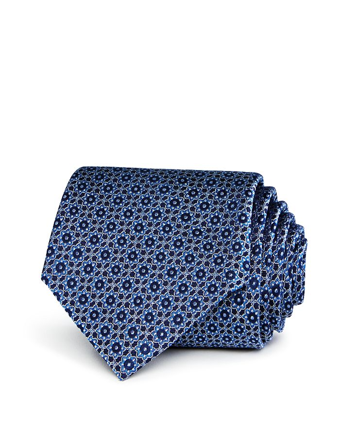 The Men's Store at Bloomingdale's - Linked-Floral-Medallion Silk Classic Tie - 100% Exclusive