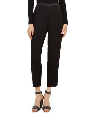 Carlaa Stud-Detail Pants in Jet Black
