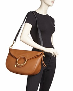 See by Chloé - Monroe Large Ring Handle Leather Shoulder Bag