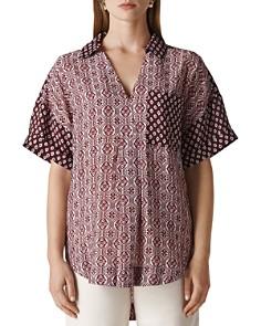 Whistles - Lea Woodblock-Print Shirt