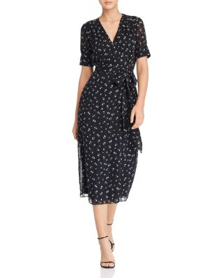 Ami Floral Wrap Midi Dress by The East Order