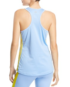 Tory Sport - Track Stripe Mesh-Back Top