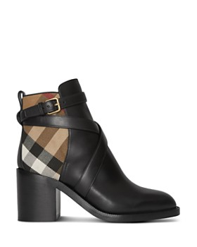 Burberry - Women's Leather & House Check Boots