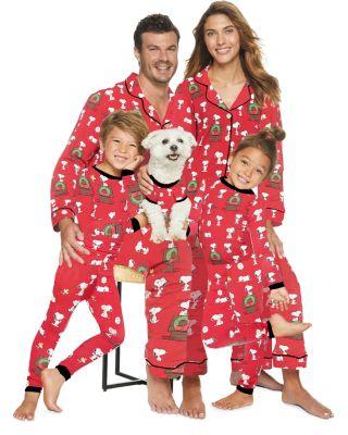 Unisex Printed Holiday Pajama Shirt & Pants Set - Big Kid