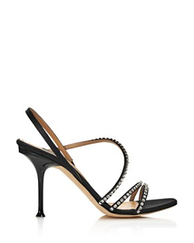 Sergio Rossi - Women's Crystal-Embellished High-Heel Slingback Sandals