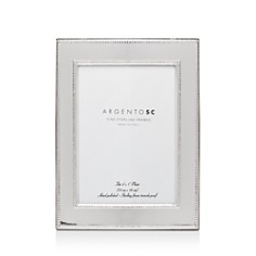 """Argento SC - Amira Double-Bead Sterling Silver Frame, 5"""" x 7"""""""