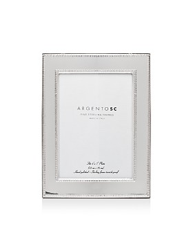 "Argento SC - Amira Double-Bead Sterling Silver Frame, 5"" x 7"""