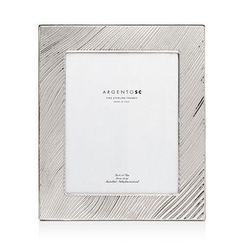 "Argento SC - Adelaide Wave-Pattern Sterling Silver Frame, 8"" x 10"""