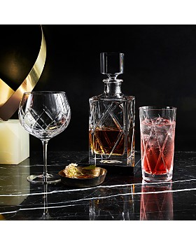 Waterford - Olann Double Old Fashioned with Marble Coasters, Set of 2