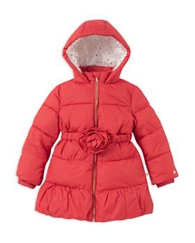 kate spade new york - Girls' Rosette Puffer Jacket - Little Kid